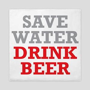Save Water Queen Duvet