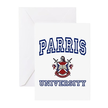 PARRIS University Greeting Cards (Pk of 10)