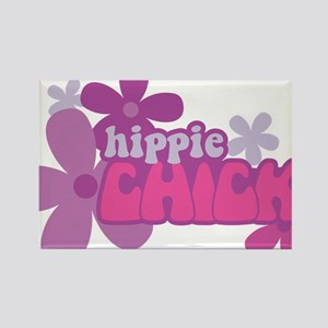 Hippie Chick Rectangle Magnet