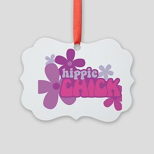 Hippie Chick Picture Ornament