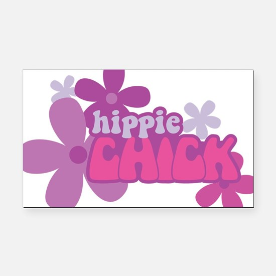 Hippie Chick Rectangle Car Magnet
