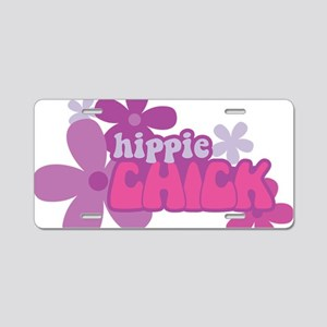 Hippie Chick Aluminum License Plate