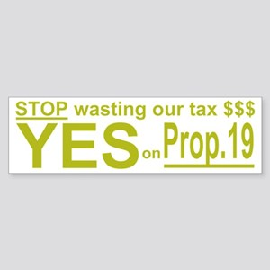 prop19_1_dark Sticker (Bumper)