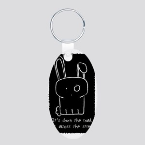 Down the Road Aluminum Oval Keychain