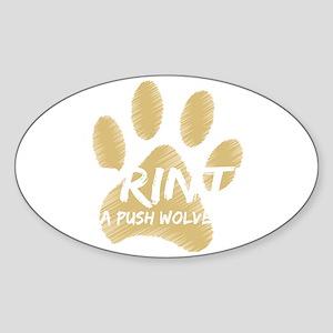 imprinted twilight_dark Sticker (Oval)