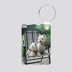 Westiechairect Aluminum Photo Keychain