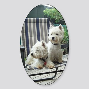 Westiechairect Sticker (Oval)