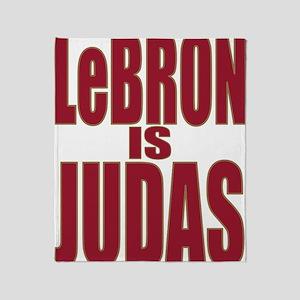 ART LeBron is Judas 3 Throw Blanket