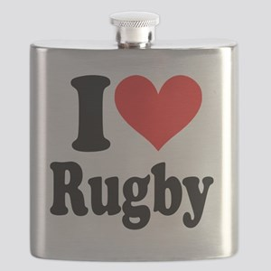 I Heart Rugby Flask
