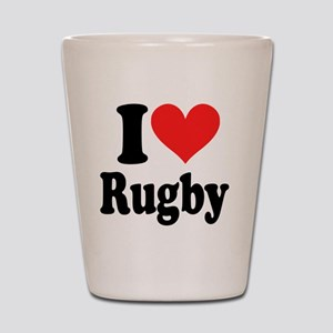 I Heart Rugby Shot Glass