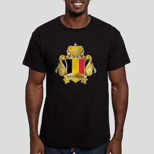 Gold1Belgium1 Men's Fitted T-Shirt (dark)