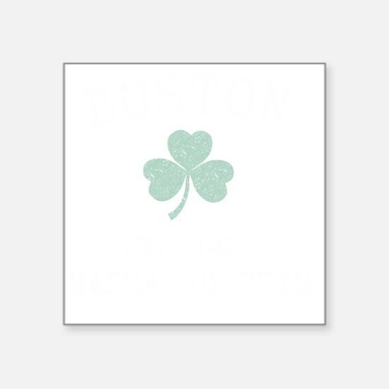 "boston-massachusetts-irish Square Sticker 3"" x 3"""
