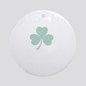 boston-massachusetts-irish Round Ornament