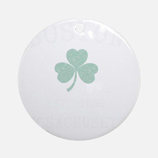 boston-massachusetts-irish Round Ornament