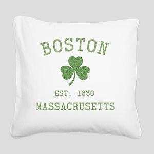 boston-massachusetts-irish-gr Square Canvas Pillow