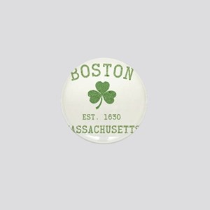 boston-massachusetts-irish-green Mini Button