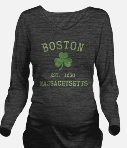 boston-massachusetts Long Sleeve Maternity T-Shirt