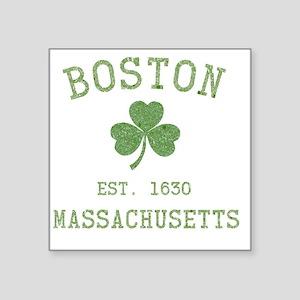 "boston-massachusetts-irish- Square Sticker 3"" x 3"""