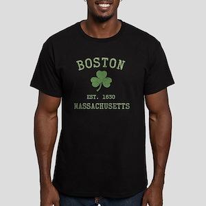 boston-massachusetts-i Men's Fitted T-Shirt (dark)