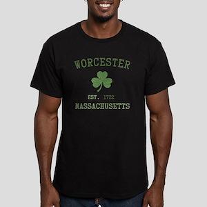 worcester-massachusett Men's Fitted T-Shirt (dark)