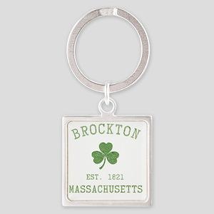 brockton-massachusetts Square Keychain