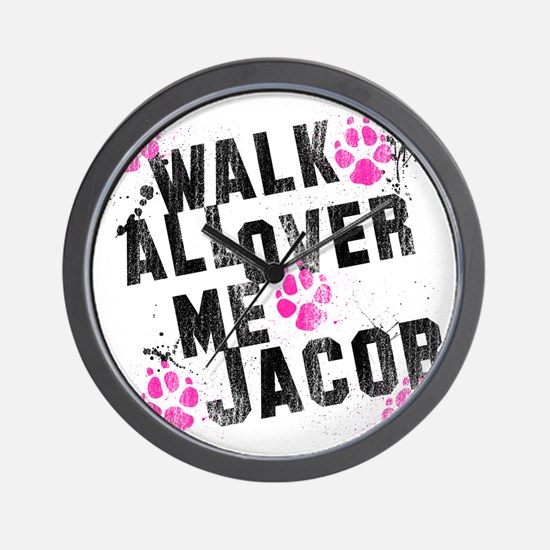 walk all ovr me-wht Wall Clock