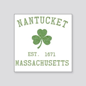 "nantucket-massachusetts-iri Square Sticker 3"" x 3"""