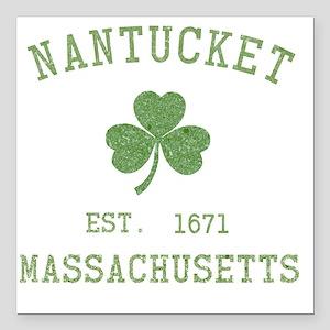 "nantucket-massachusetts- Square Car Magnet 3"" x 3"""