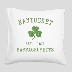 nantucket-massachusetts-irish Square Canvas Pillow