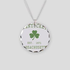 nantucket-massachusetts-iris Necklace Circle Charm