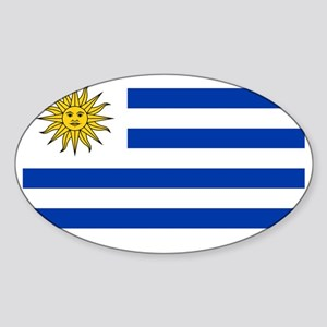 Flag_of_Uruguay  2222222 Sticker (Oval)