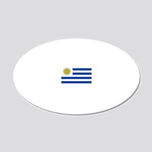 Flag_of_Uruguay  2222222 20x12 Oval Wall Decal