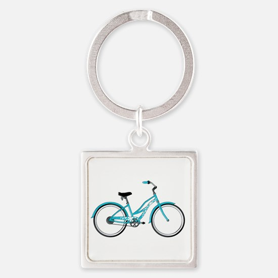 Happiness is a Beach Cruiser Square Keychain