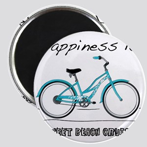 Happiness is a Beach Cruiser 2 Magnet