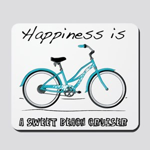 Happiness is a Beach Cruiser 2 Mousepad