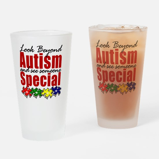 Look beyond Autism and see someone  Drinking Glass