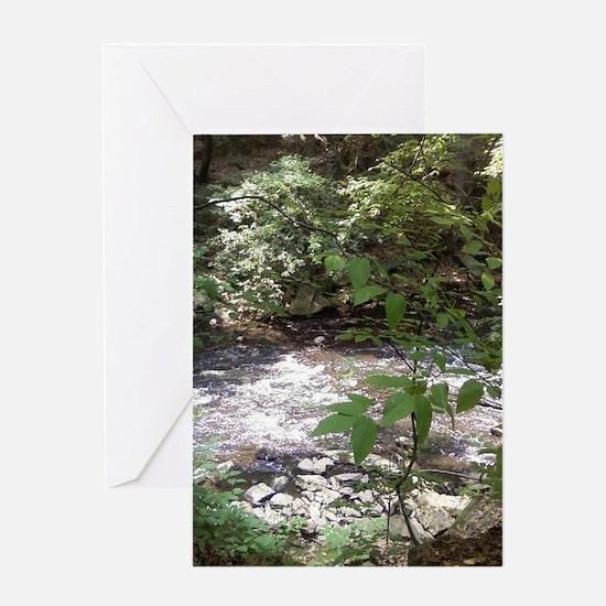 Waterfall run off Greeting Card