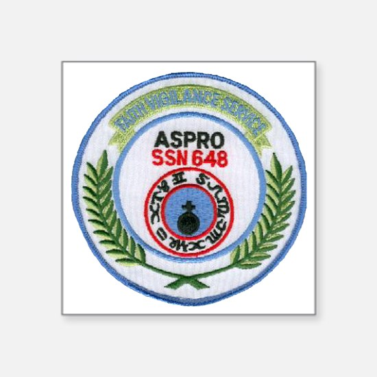 "aspro patch transparent Square Sticker 3"" x 3"""