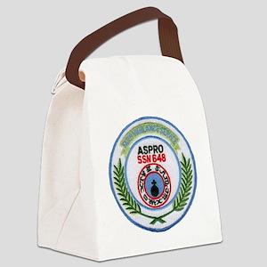 aspro patch transparent Canvas Lunch Bag