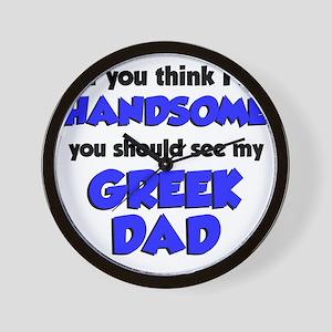 Greek Dad Baby Shirt Wall Clock