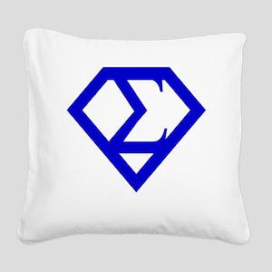 2-supersigma Square Canvas Pillow