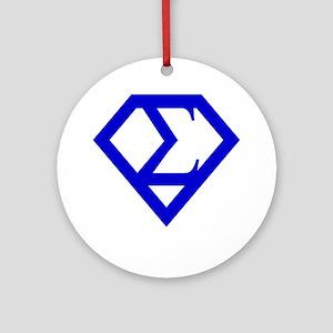 2-supersigma Round Ornament