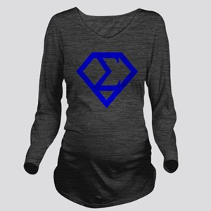 2-supersigma Long Sleeve Maternity T-Shirt