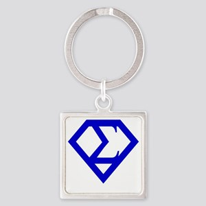 2-supersigma Square Keychain