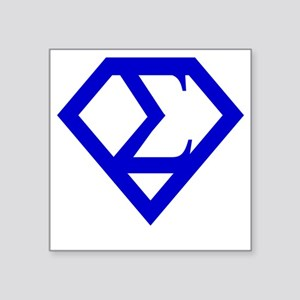 "2-supersigma Square Sticker 3"" x 3"""