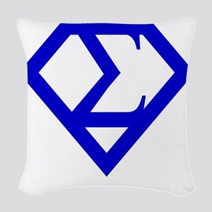 2-supersigma Woven Throw Pillow