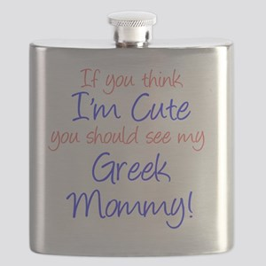 Im Cute - Greek Mommy Flask