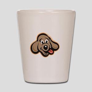 dog-like-best Shot Glass