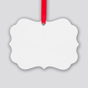 FIN-peace-love-papillon-WonB Picture Ornament