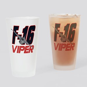 2-viper_front Drinking Glass